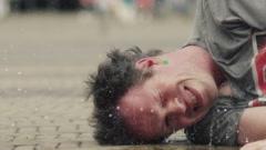 Water balloon slowmotion Stock Footage