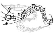 Stock Illustration of waves of musical notes