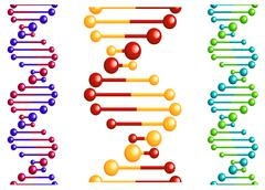 dna molecule with elements - stock illustration