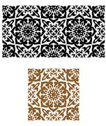 arabic seamless ornament in retro style - stock illustration