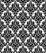 seamless background in retro damask style - stock illustration
