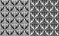 Floral damask seamless patterns Stock Illustration