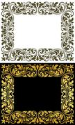Floral frame in retro style Stock Illustration
