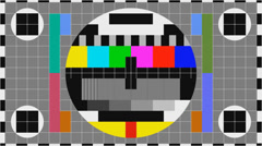 Tv color bars Stock Footage