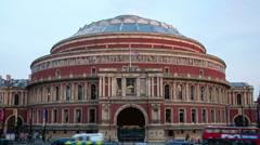 Royal Albert Hall, London time lapse 4K version Stock Footage