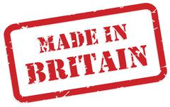 Made in britain stamp Stock Illustration