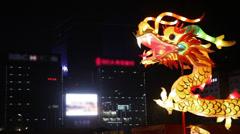 Dragon lighting decorations Stock Footage