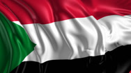 Stock Video Footage of Flag of Sudan