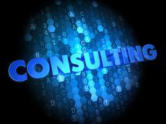 Konsultointi on Dark digitaalinen tausta. Piirros