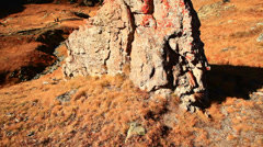 Rock detail and Matthorn Stock Footage