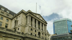 Bank Of England Clouds Gathering Time Lapse Wide 4K version Stock Footage