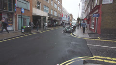 Streets and Sideways in Soho Area of Downtown London in Timelapse Stock Footage