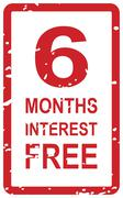 6 months interest free - stock illustration