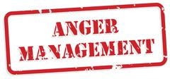 anger management rubber stamp - stock illustration