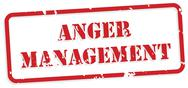 Stock Illustration of anger management rubber stamp