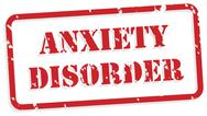 Stock Illustration of anxiety disorder rubber stamp