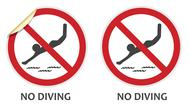 Stock Illustration of no diving sign