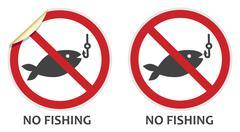 No fishing sign Stock Illustration