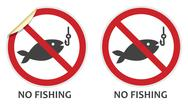 Stock Illustration of no fishing sign
