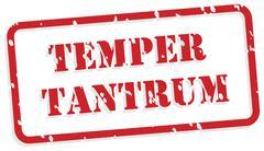 temper tantrum rubber stamp - stock illustration