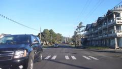 Driving Through Small Town Time Lapse - stock footage