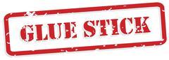 Glue stick rubber stamp vector Stock Illustration