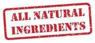 Stock Illustration of all natural ingredients rubber stamp