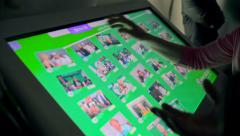 Touchscreen monitor Stock Footage
