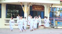 Female buddhist monks Stock Footage