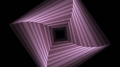 Abstract Pink Square Tunel Stock Footage