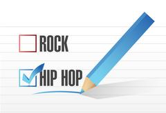 Stock Illustration of hip hop over rock illustration design