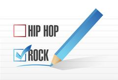 rock over hip hop illustration design - stock illustration