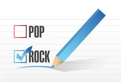 rock over pop illustration design - stock illustration