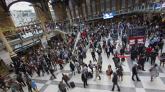Liverpool Train Station in London in Timelapse - stock footage