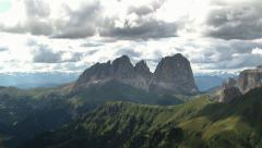Panoramic Dolomites mountains view Stock Footage