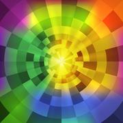 abstract radiant multicolor tunnel background - stock illustration