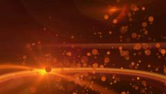 Twinkling Orange Abstract Particle Background Stock Footage