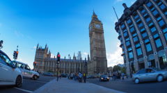 Big Ben and British Parliament in Timelapse Stock Footage