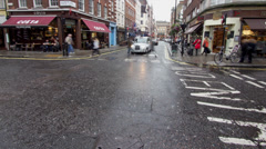 Intersection in Soho neighborhood of London in Timelapse Stock Footage