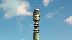 Timelapse of the British Telecom Tower in London England. 4K version - stock footage