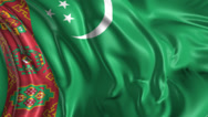 Stock Video Footage of Flag of Turkmenistan