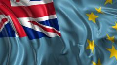 Flag of Tuvalu Stock Footage