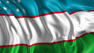 Stock Video Footage of Flag of Uzbekistan