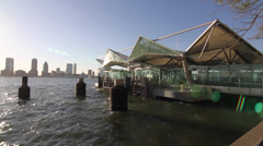 Ferry Dock Lower Manhattan Stock Footage