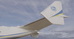 Antonov 225 Mriya airplane - stock footage