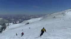 Skiing on Jahorina, Bosnia and Herzegovina Stock Footage