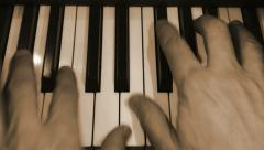 Piano being played close up slow motion Stock Footage