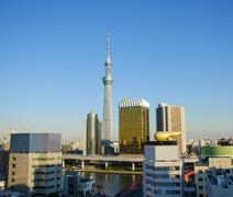 tokyo sky tree in tokyo, japan - stock photo