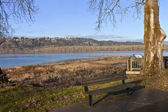 columbia river and oregon state parks. - stock photo