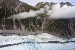 Franz josef glacier from top view, new zealand Stock Photos